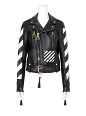 Off White(オフホワイト) Diag Carryover Leather Biker
