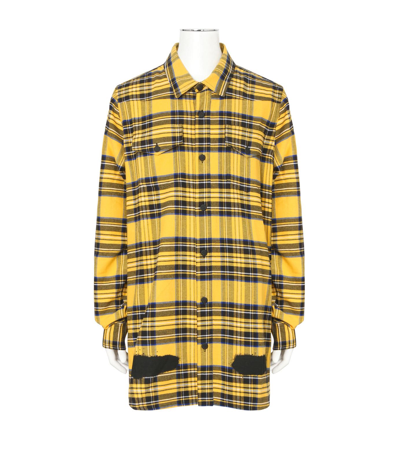 Off White(オフホワイト)のDIAG SPRAY CHECK SHIRT-YELLOW(シャツ/shirt)-001S7367013-32 拡大詳細画像1