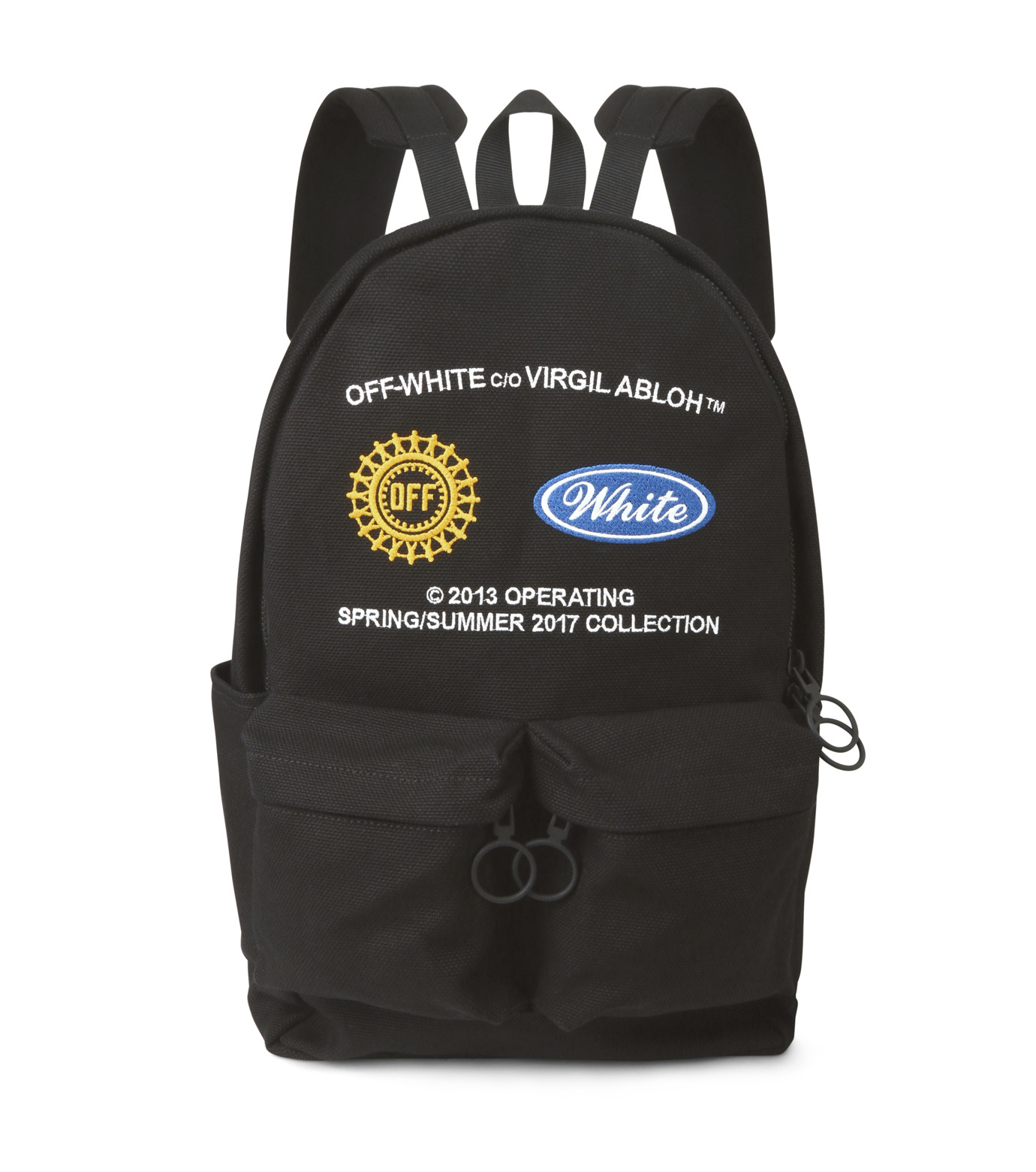 Off White(オフホワイト)のWORK BACKPACK-BLACK(バックパック/backpack)-003S7108075-13 拡大詳細画像1