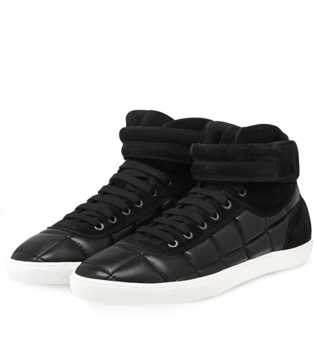 Moncler Gamme Bleu(モンクレールガムブルー)のLeather sneaker-BLACK-00415-00-13 詳細画像4