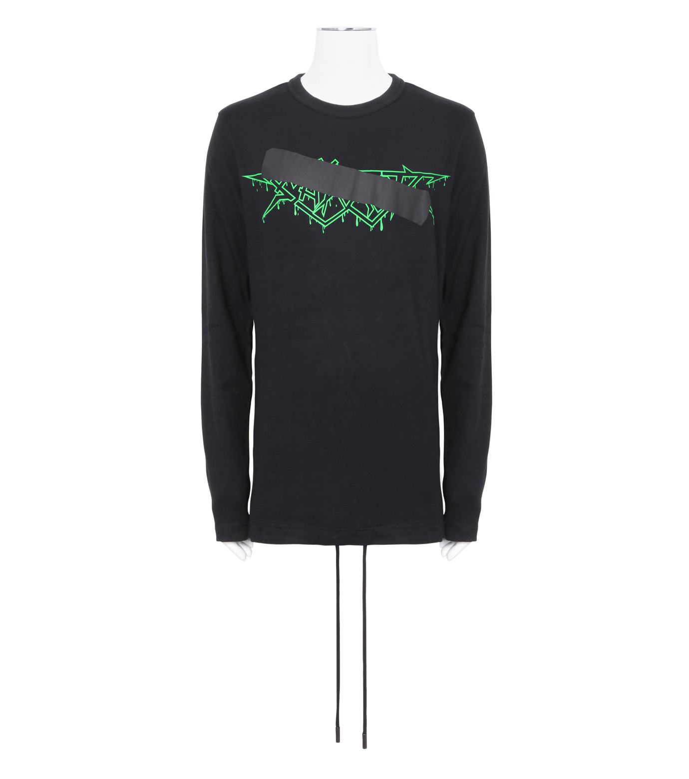 Off White(オフホワイト)のROCK MIRROR LONGSLEEVE-BLACK(カットソー/cut and sewn)-006S7001133-13 拡大詳細画像1
