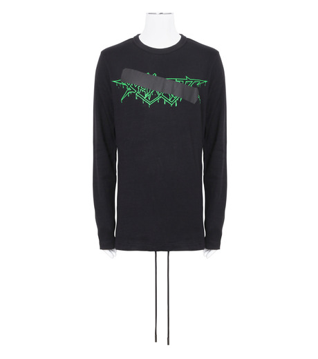 Off White(オフホワイト)のROCK MIRROR LONGSLEEVE-BLACK(カットソー/cut and sewn)-006S7001133-13 詳細画像1