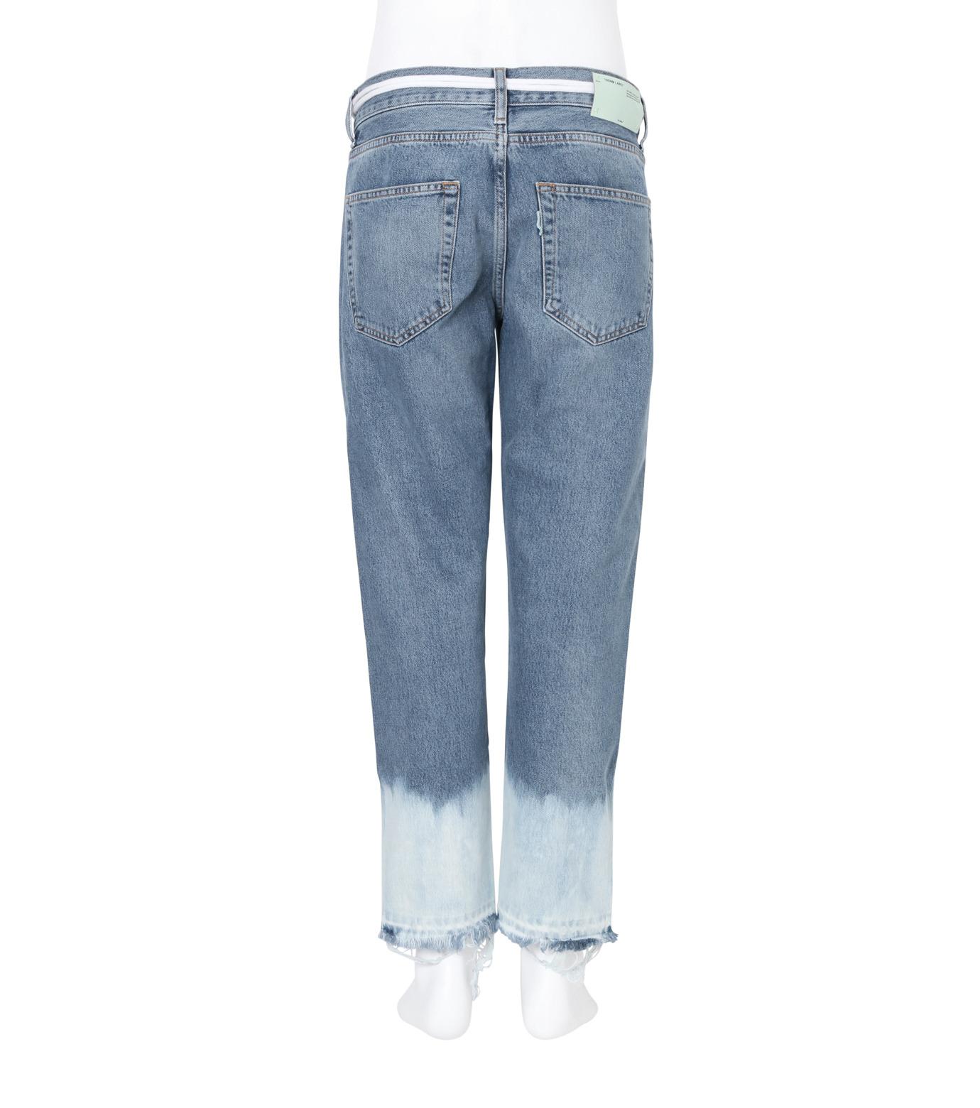 Off White(オフホワイト)のCROP 5 POCKET BOTTOM-BLUE(デニム/denim)-008S7138015-92 拡大詳細画像2