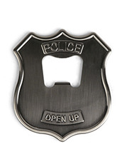 Kikker Land Police Badge Bottle Opener