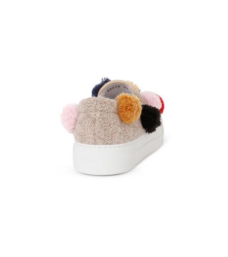 Joshua SANDERS(ジョシュア・サンダース)のKnit Pom Pom-LIGHT BEIGE(スニーカー/sneaker)-10078-51 詳細画像3