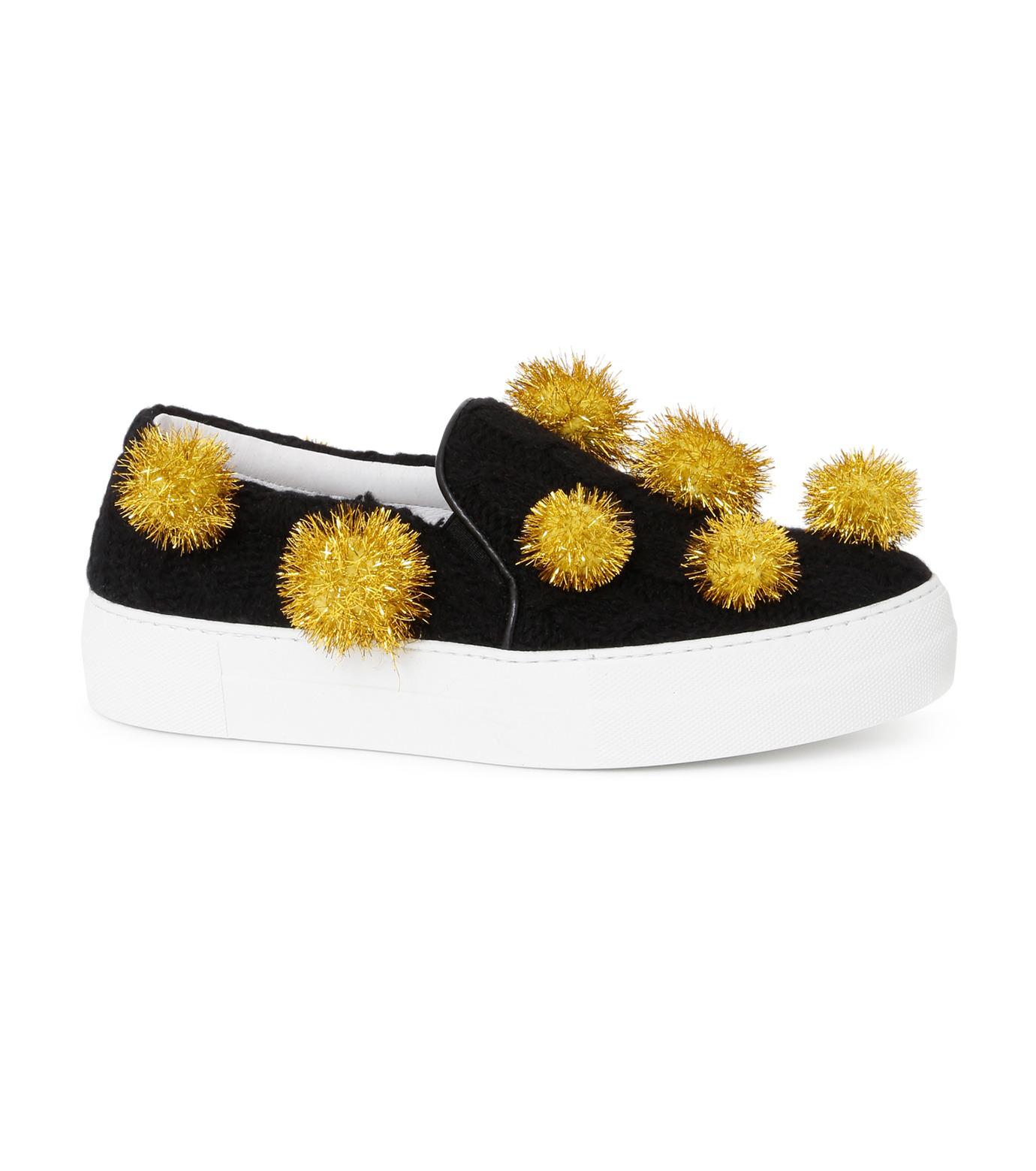 Joshua SANDERS(ジョシュア・サンダース)のSlip On Pompom-BLACK(スニーカー/sneaker)-10078P-13 拡大詳細画像1