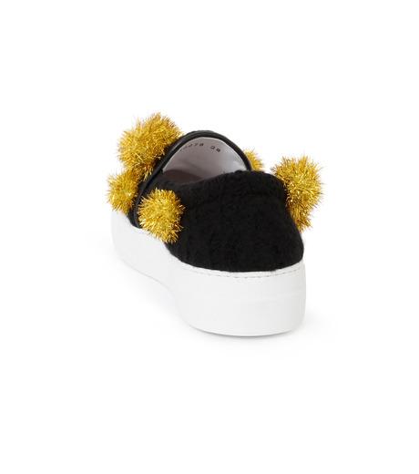 Joshua SANDERS(ジョシュア・サンダース)のSlip On Pompom-BLACK(スニーカー/sneaker)-10078P-13 詳細画像3
