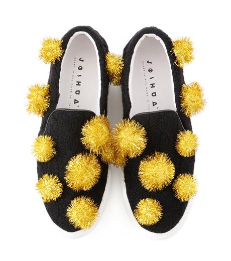 Joshua SANDERS(ジョシュア・サンダース)のSlip On Pompom-BLACK(スニーカー/sneaker)-10078P-13 詳細画像4