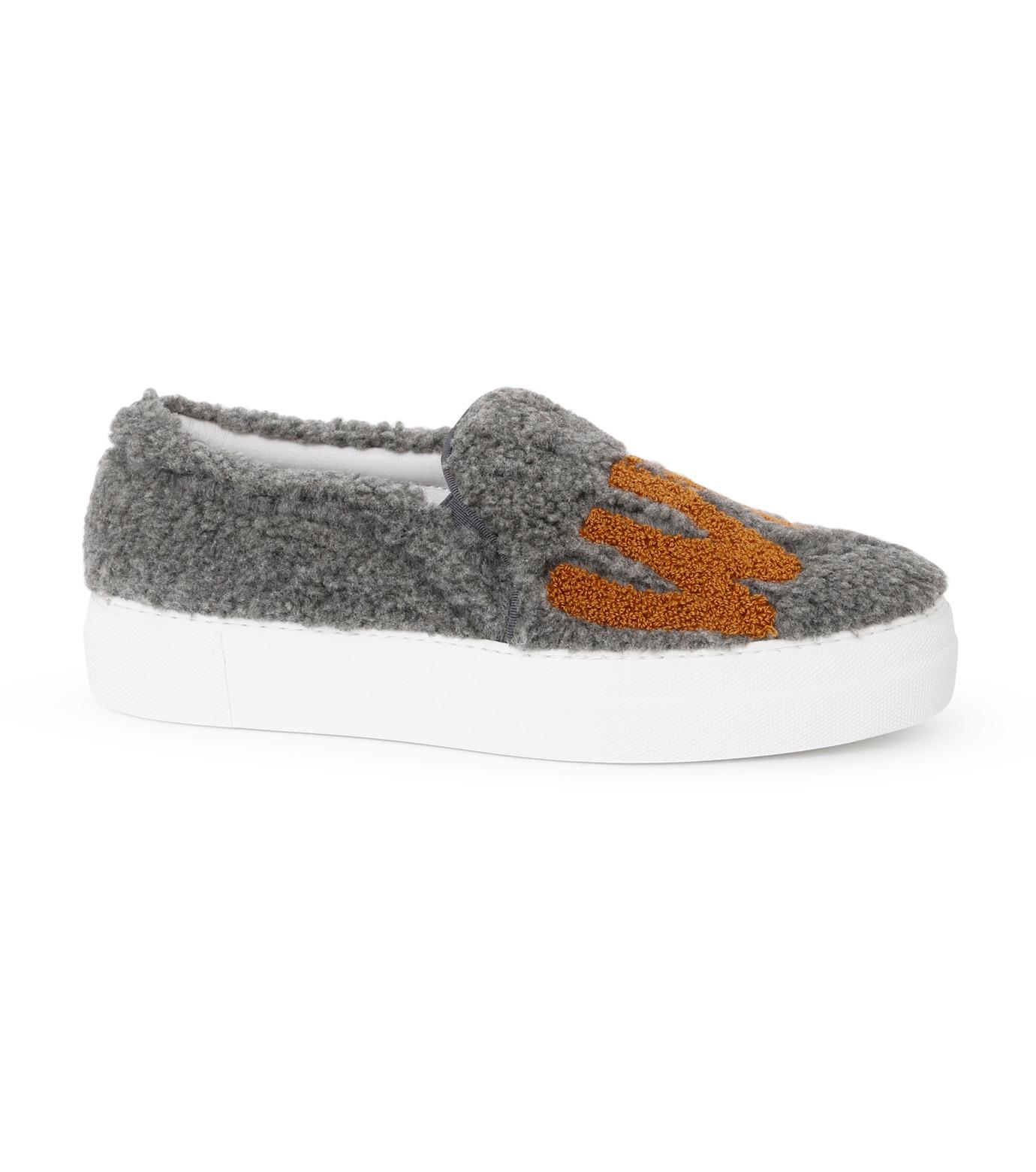 Joshua SANDERS(ジョシュア・サンダース)のSlip On Grey What-GRAY(スニーカー/sneaker)-10078S-11 拡大詳細画像1