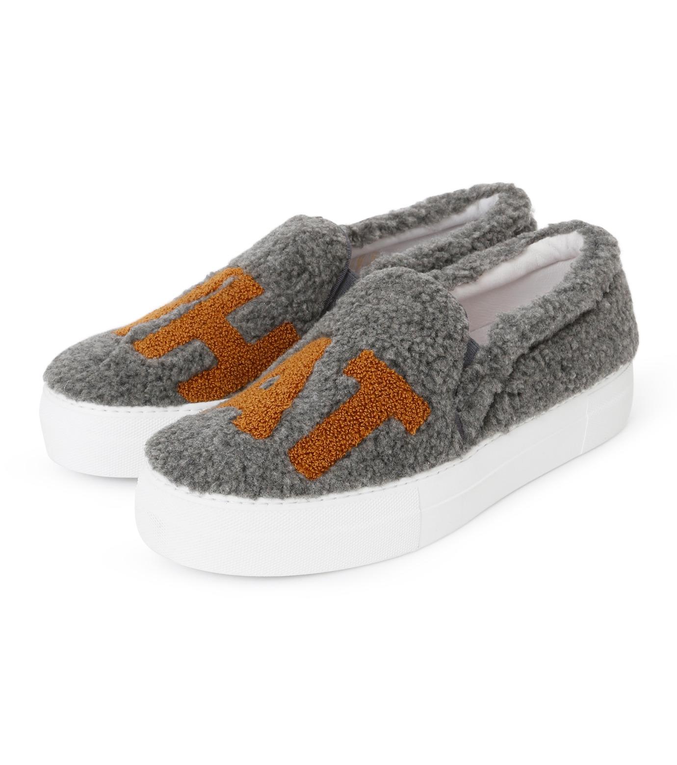 Joshua SANDERS(ジョシュア・サンダース)のSlip On Grey What-GRAY(スニーカー/sneaker)-10078S-11 拡大詳細画像2