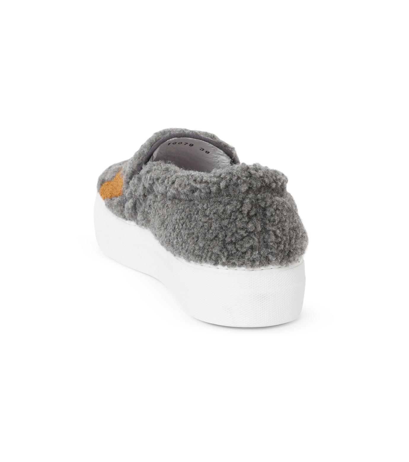 Joshua SANDERS(ジョシュア・サンダース)のSlip On Grey What-GRAY(スニーカー/sneaker)-10078S-11 拡大詳細画像3