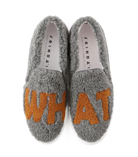 Joshua SANDERS(ジョシュア・サンダース)のSlip On Grey What-GRAY(スニーカー/sneaker)-10078S-11 詳細画像4