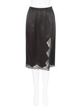 Alexander Wang(アレキサンダーワン) Straight Slit Lingerie Skirt