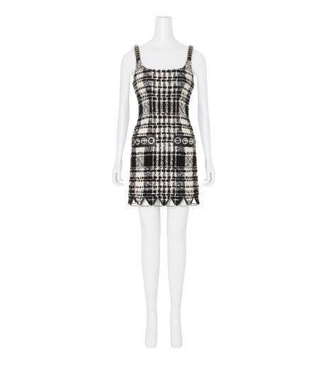 Alexander Wang(アレキサンダーワン)のCami Mini Dress w/Triangle Hardware-BLACK(ワンピース/one piece)-106908F16-13 詳細画像1