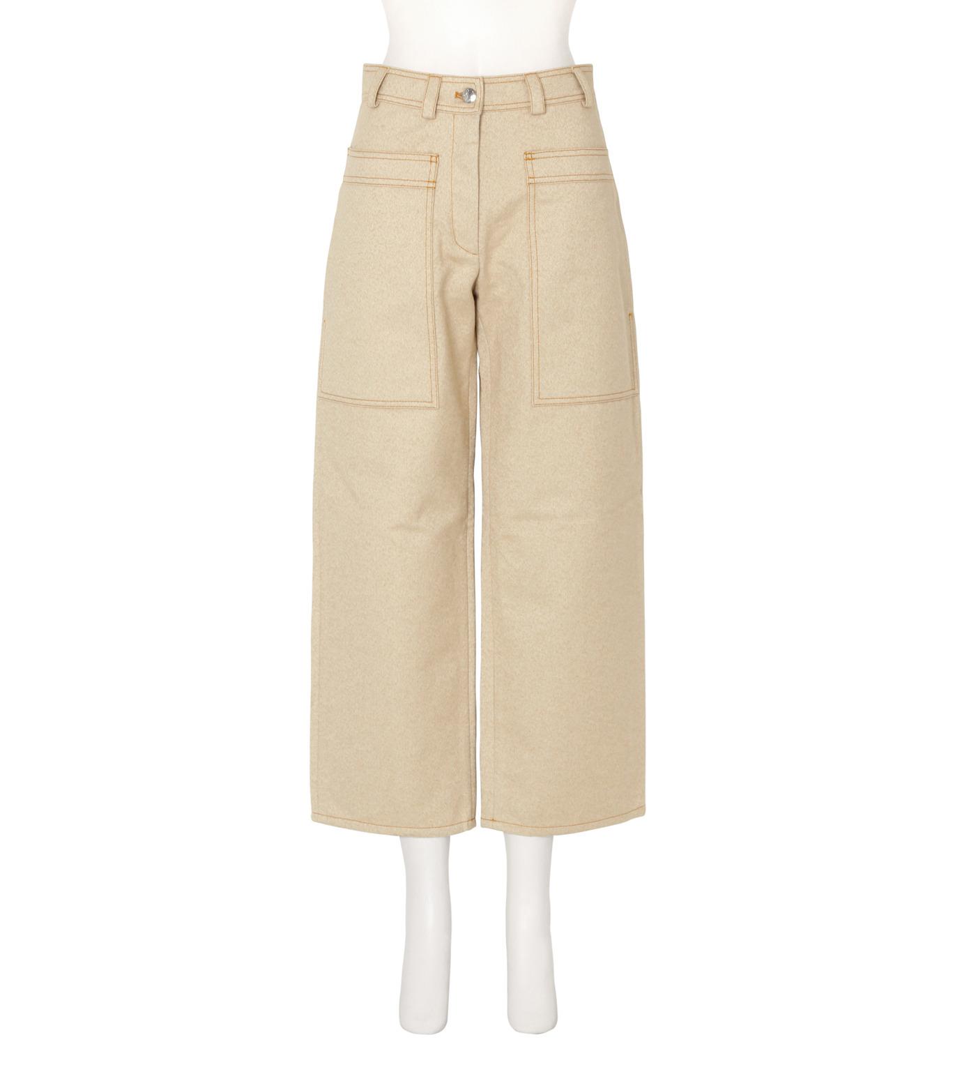 ACNE STUDIOS(アクネ ストゥディオズ)のCargo Pkt Cropped Wide Pants-LIGHT BEIGE(パンツ/pants)-10B163-51 拡大詳細画像1