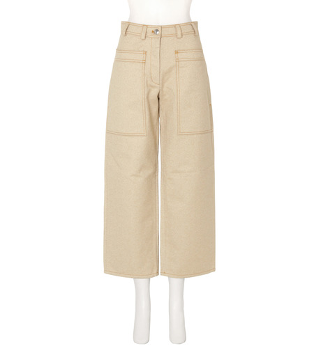 ACNE STUDIOS(アクネ ストゥディオズ)のCargo Pkt Cropped Wide Pants-LIGHT BEIGE(パンツ/pants)-10B163-51 詳細画像1