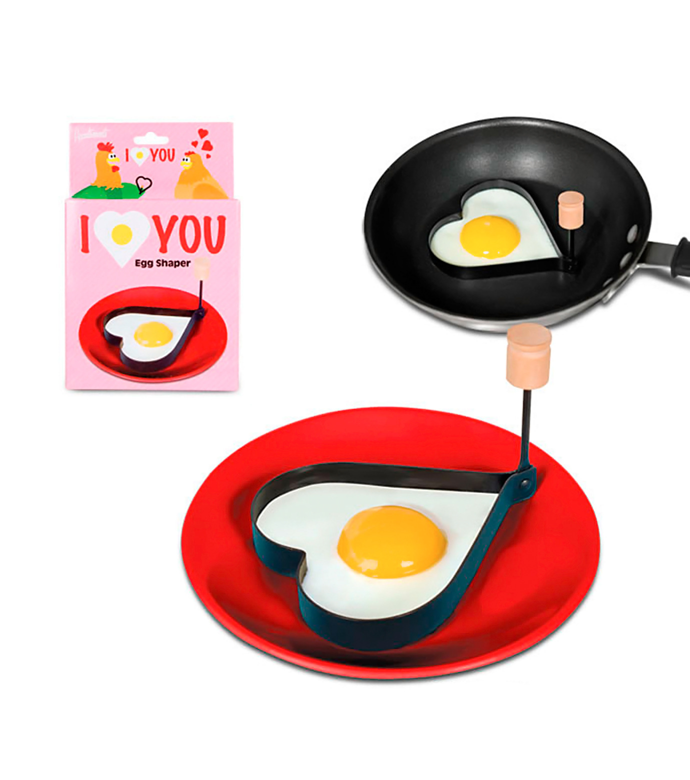 Accoutrements(アクータメンツ)のI love you egg shaper-PINK(キッチン/kitchen)-11902-72 拡大詳細画像1