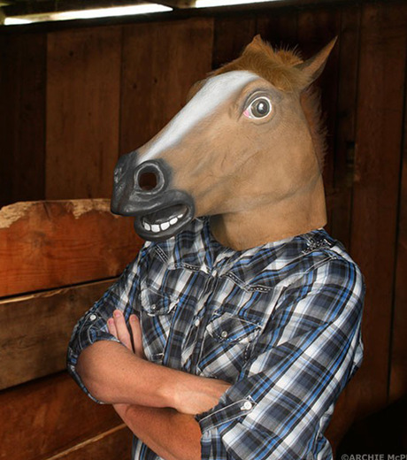 Accoutrements(アクータメンツ)のHorse Head Mask-BROWN(アザーズ/others)-12027-42 詳細画像3