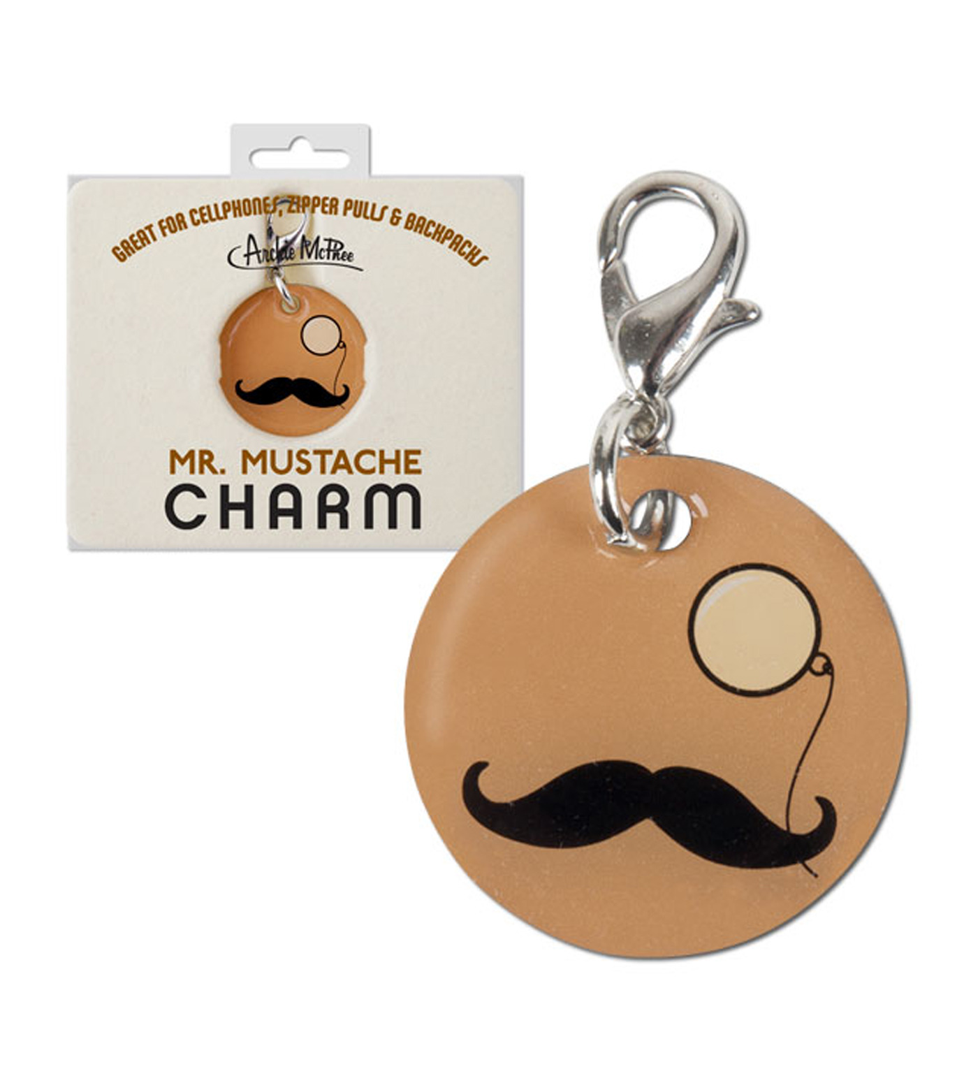 Accoutrements(アクータメンツ)のMustache & Monocle Charm-BEIGE(アザーズ/others)-12225-52 拡大詳細画像1
