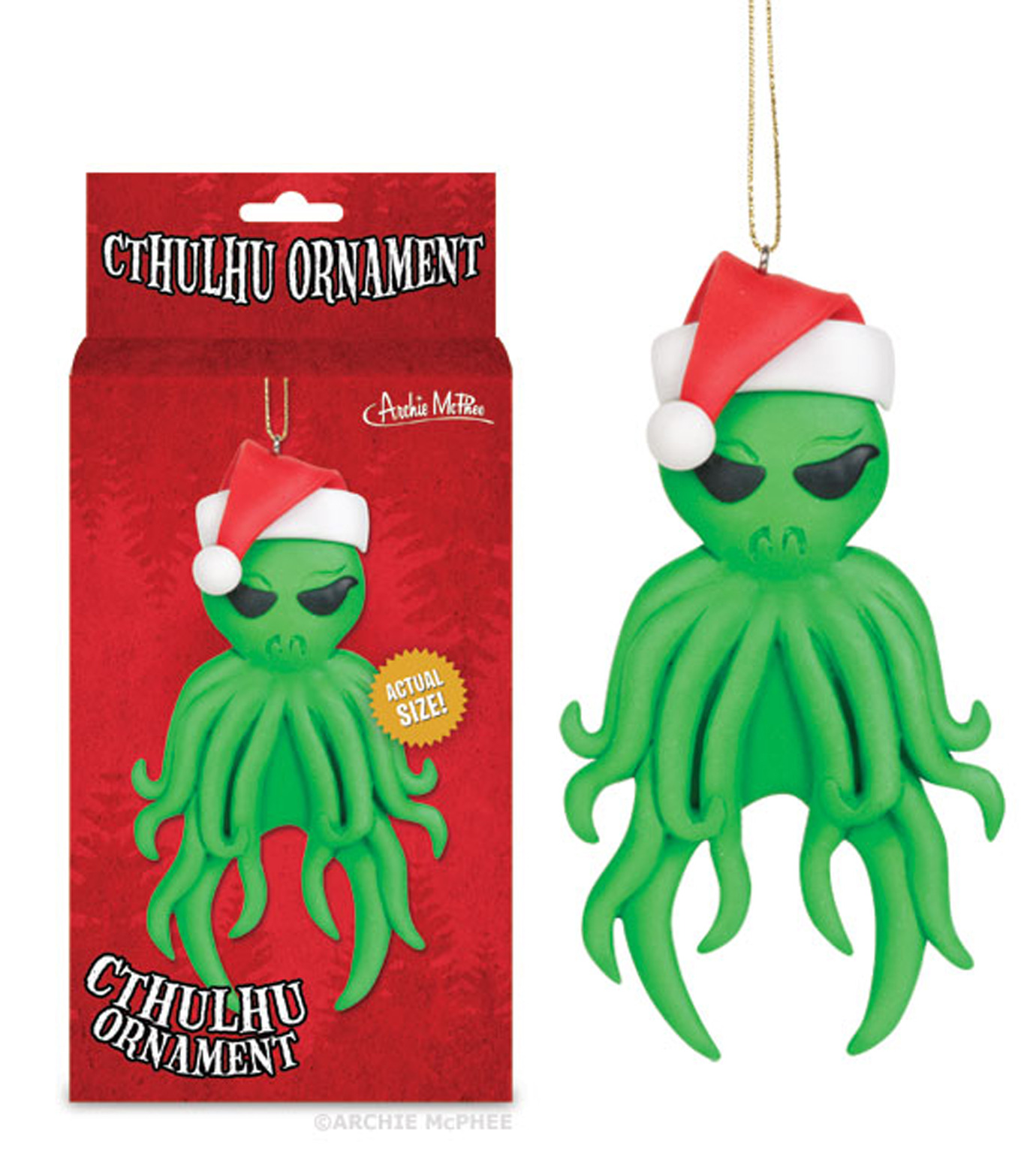 Accoutrements(アクータメンツ)のCthulhu ornament-GREEN-12338-22 拡大詳細画像2