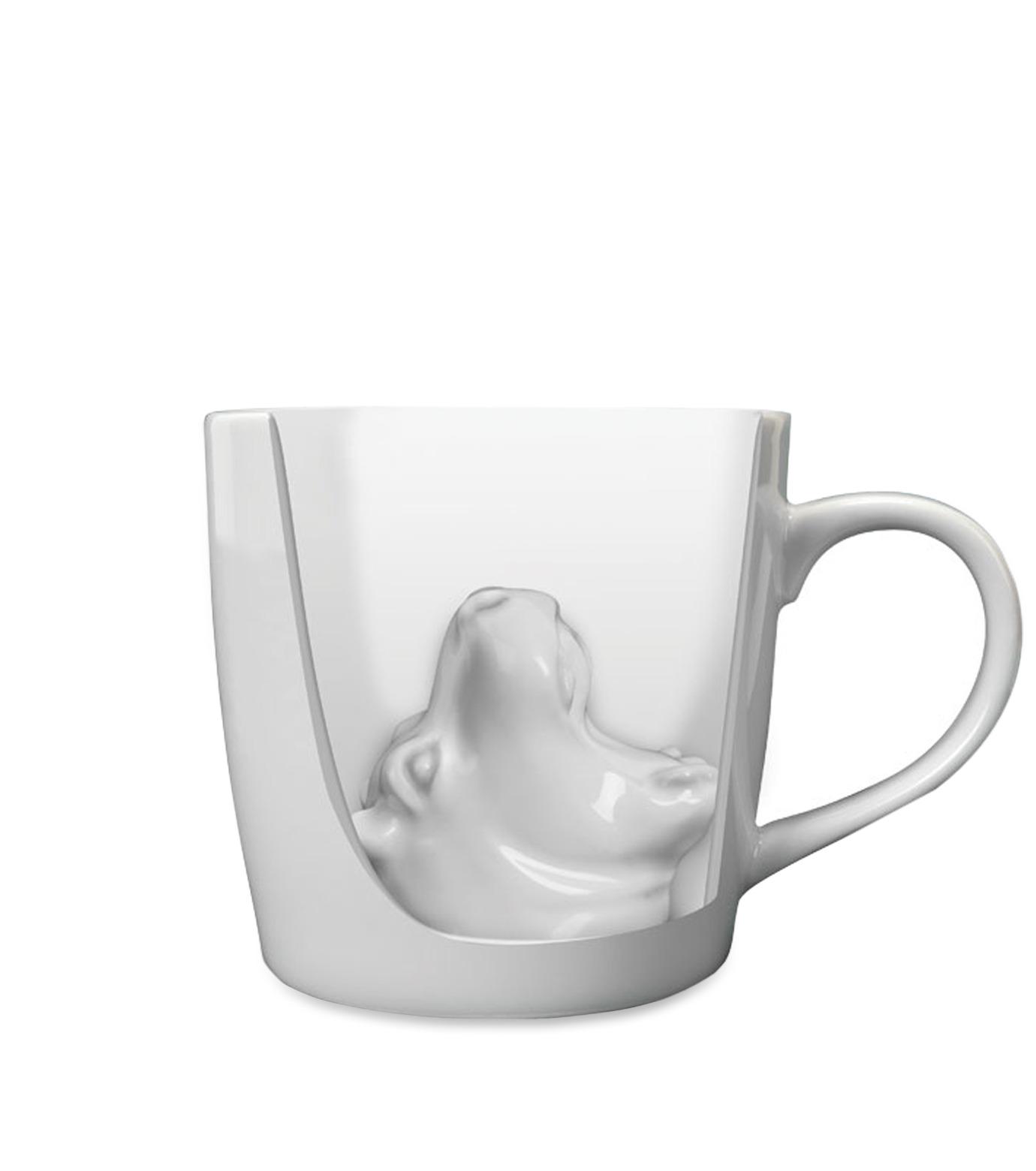 Accoutrements(アクータメンツ)のHippo Attack Porcelain Mug-WHITE-12339-4 拡大詳細画像2