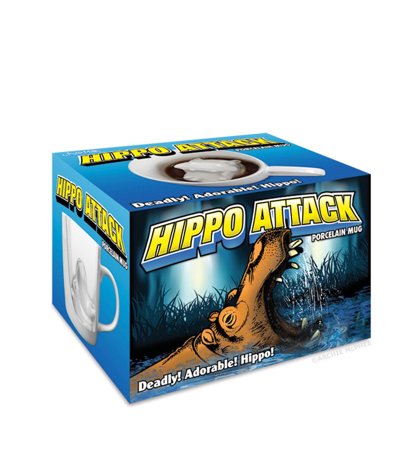 Accoutrements(アクータメンツ)のHippo Attack Porcelain Mug-WHITE-12339-4 拡大詳細画像3