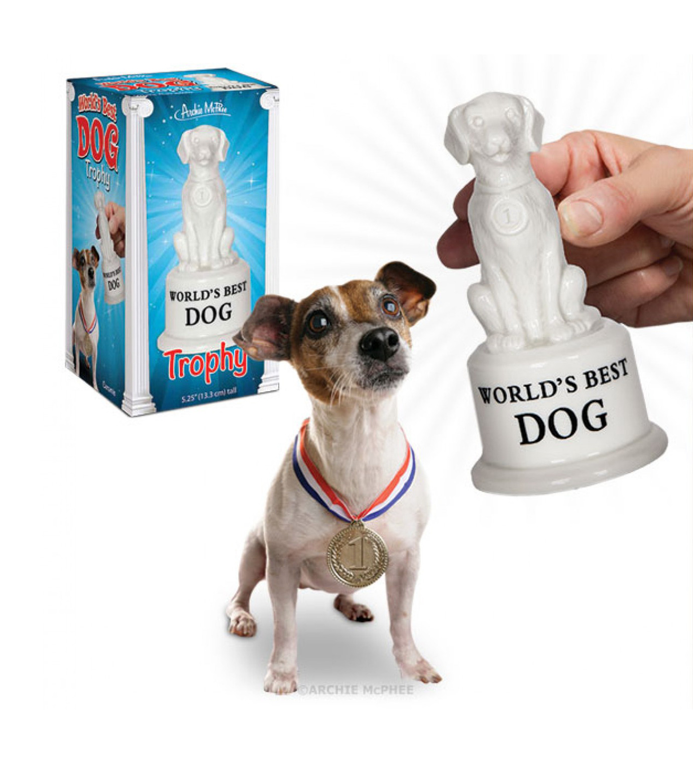 Accoutrements(アクータメンツ)のWORLD'S BEST DOG TROPHY-WHITE(アザーズ/others)-12520-4 拡大詳細画像1