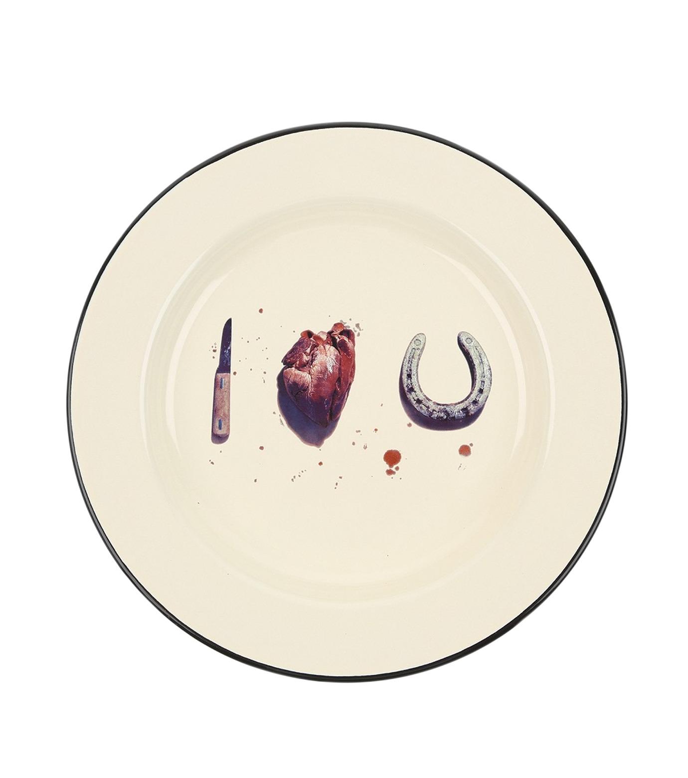 Seletti(セレッティ)のEnamel Plate -I Love You--NONE(キッチン/kitchen)-126176-0 拡大詳細画像1