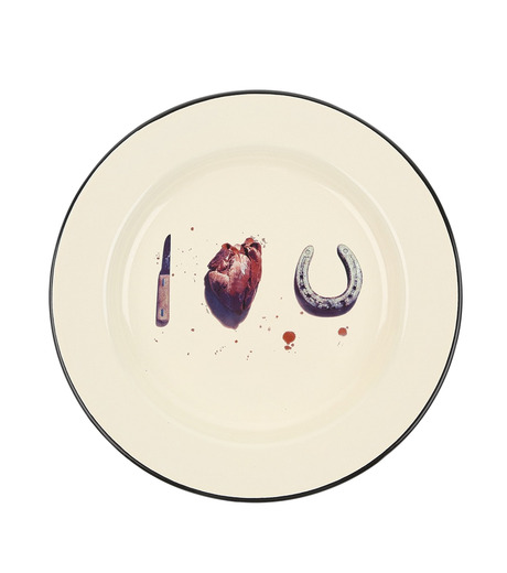 Seletti(セレッティ)のEnamel Plate -I Love You--NONE(キッチン/kitchen)-126176-0 詳細画像1