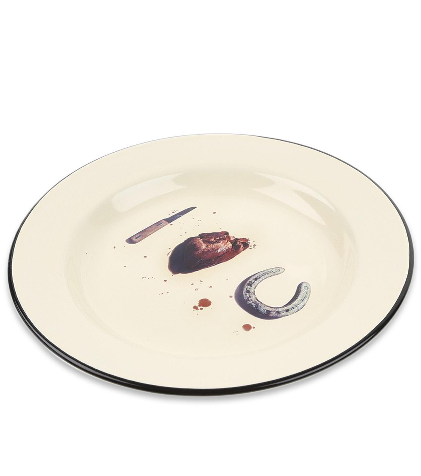 Seletti(セレッティ)のEnamel Plate -I Love You--NONE(キッチン/kitchen)-126176-0 拡大詳細画像2