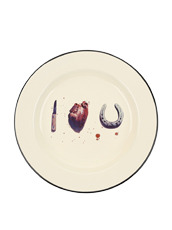 Seletti Enamel Plate -I Love You-