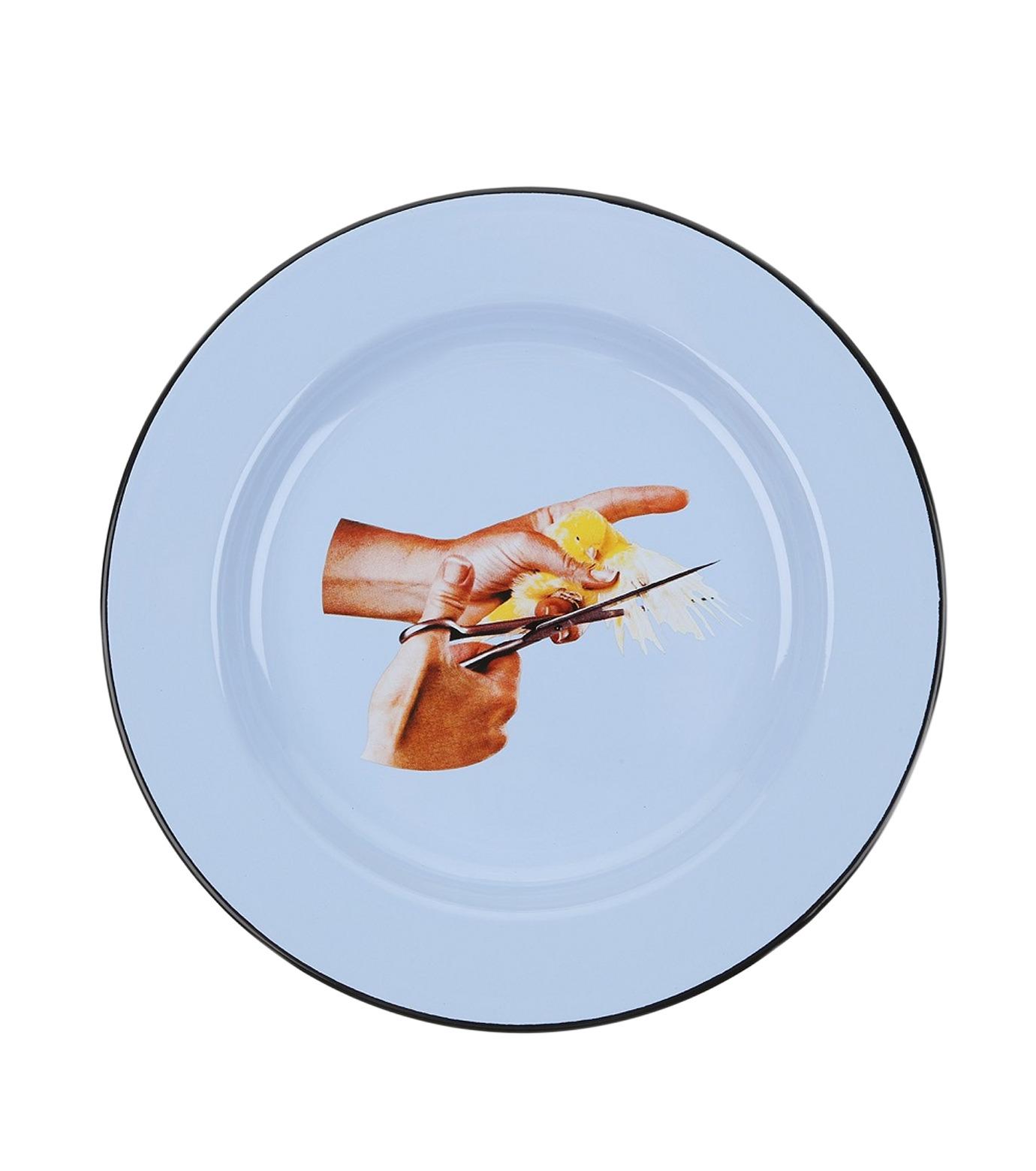 Seletti(セレッティ)のEnamel Plate -Bird--NONE(キッチン/kitchen)-126179-0 拡大詳細画像1