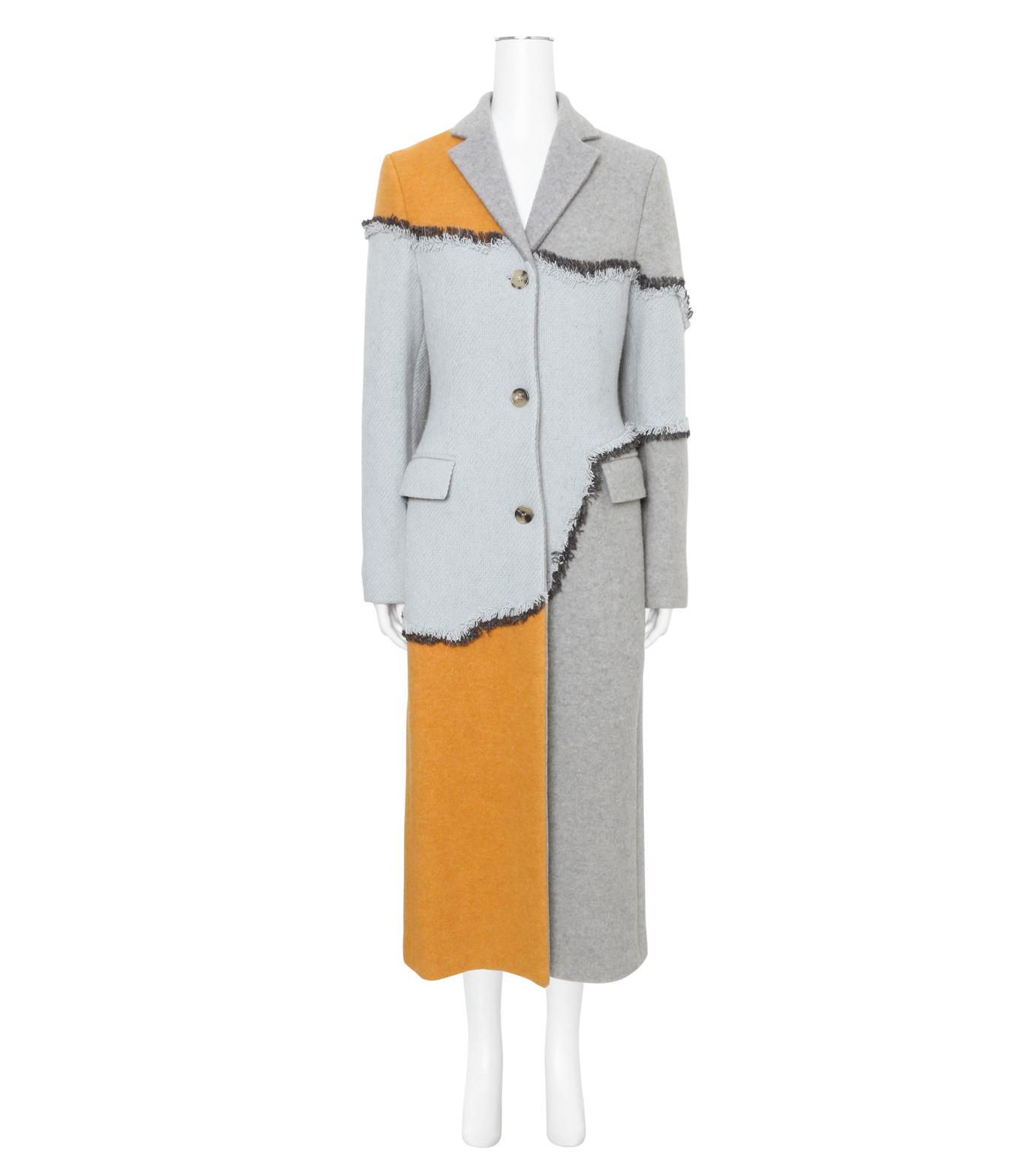 ACNE STUDIOS(アクネ ストゥディオズ)のPatchwork Fitted Coat-GRAY(コート/coat)-12BC63-11 拡大詳細画像1