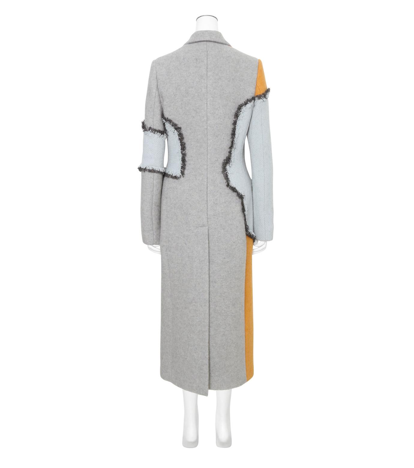 ACNE STUDIOS(アクネ ストゥディオズ)のPatchwork Fitted Coat-GRAY(コート/coat)-12BC63-11 拡大詳細画像2