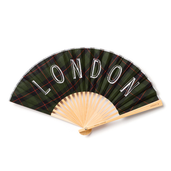 BOUDAI(ボウダイ)の扇子 LONDON×CHECK.G-DARK GREEN(OTHER-GOODS/OTHER-GOODS)-13-002796-LO-23 詳細画像1