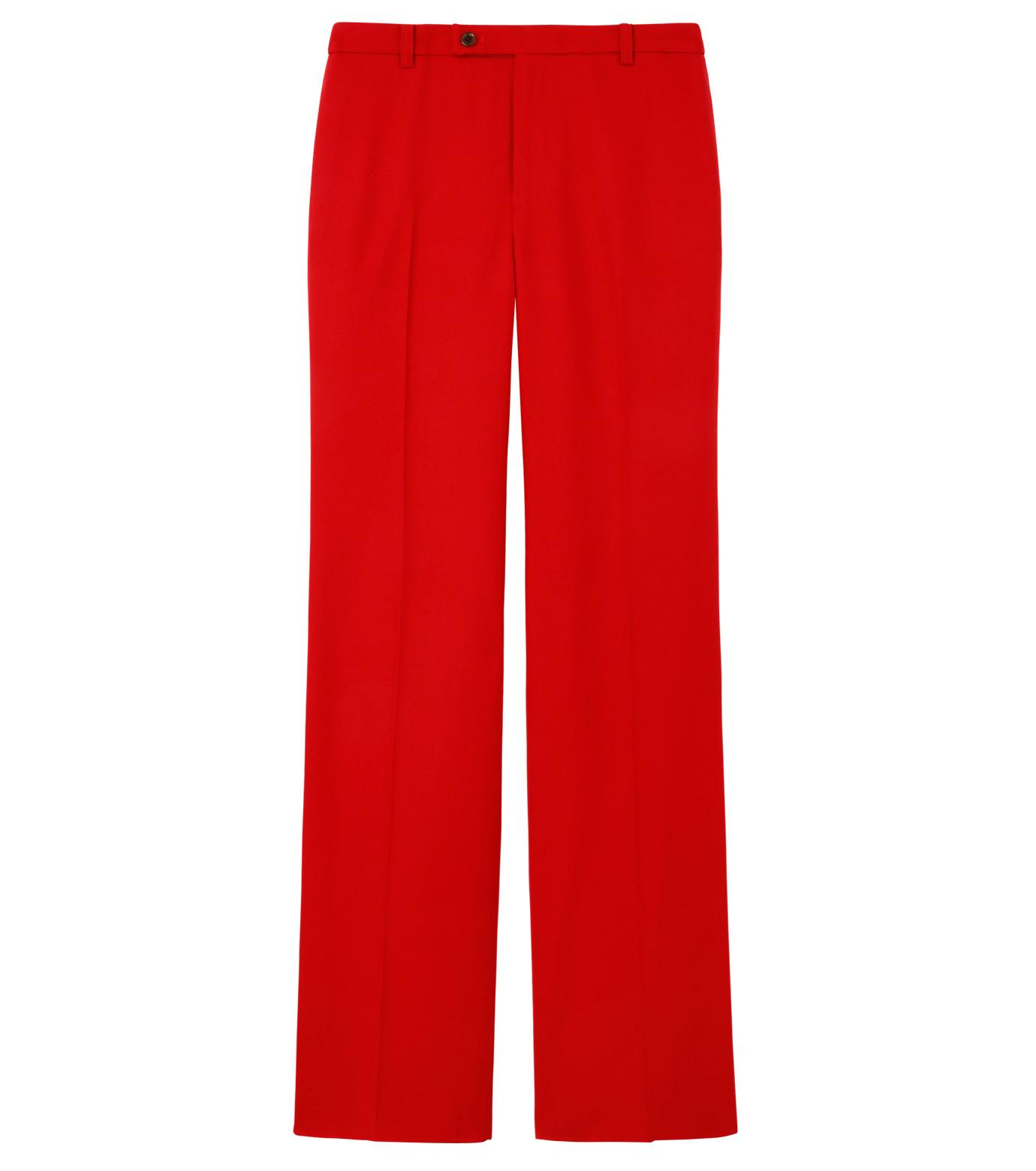 LE CIEL BLEU(ルシェルブルー)のウールカラーセミワイドPT-RED(パンツ/pants)-13A68049 拡大詳細画像1