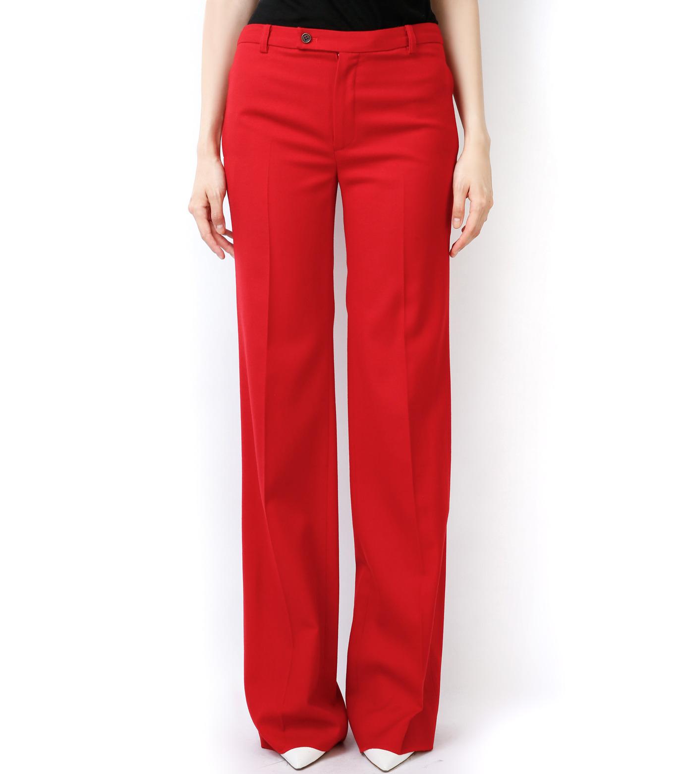 LE CIEL BLEU(ルシェルブルー)のウールカラーセミワイドPT-RED(パンツ/pants)-13A68049 拡大詳細画像2