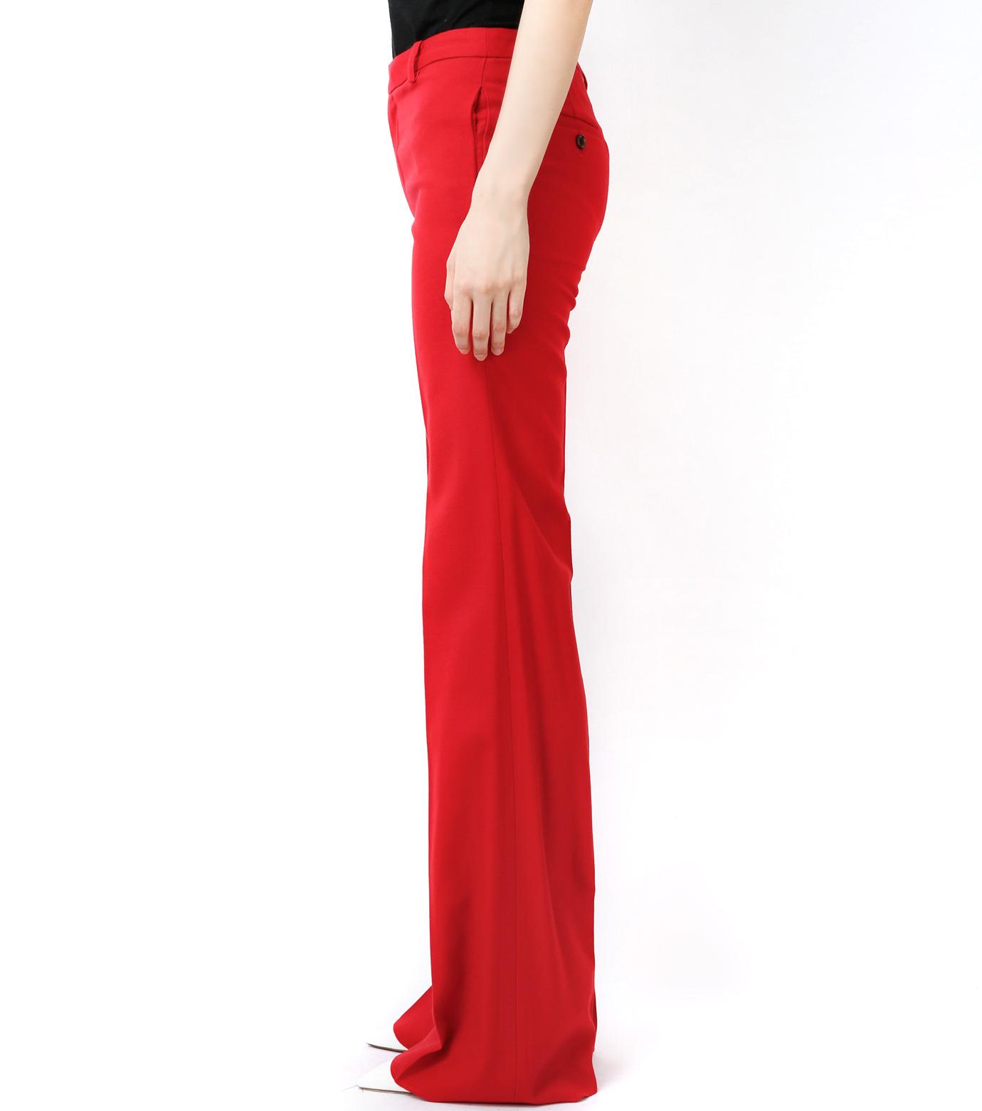 LE CIEL BLEU(ルシェルブルー)のウールカラーセミワイドPT-RED(パンツ/pants)-13A68049 拡大詳細画像3