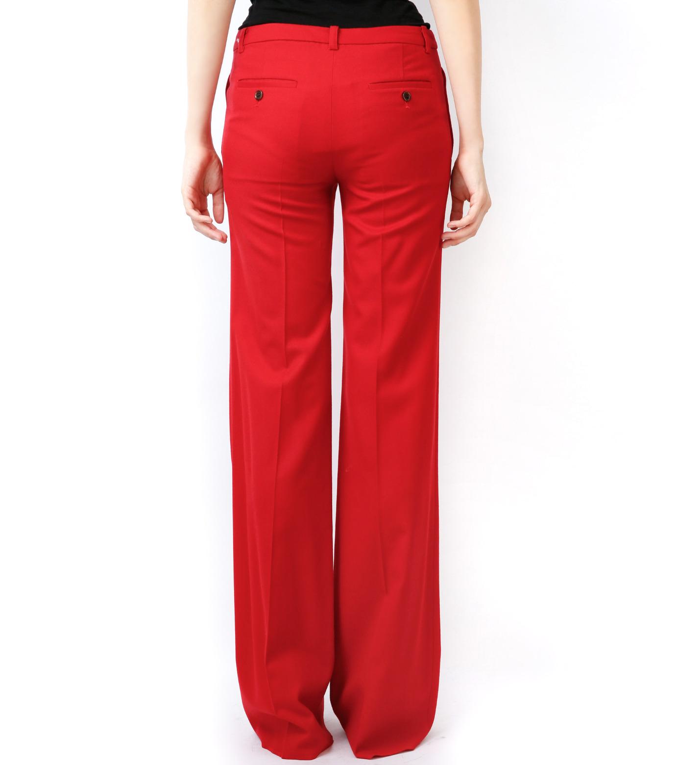 LE CIEL BLEU(ルシェルブルー)のウールカラーセミワイドPT-RED(パンツ/pants)-13A68049 拡大詳細画像4