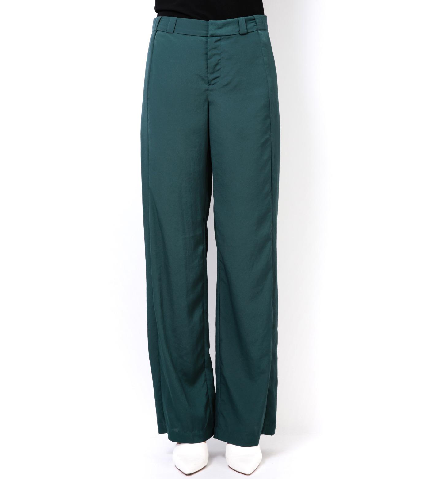 LE CIEL BLEU(ルシェルブルー)のWide Straight Pants-GREEN(パンツ/pants)-14A68006 拡大詳細画像2