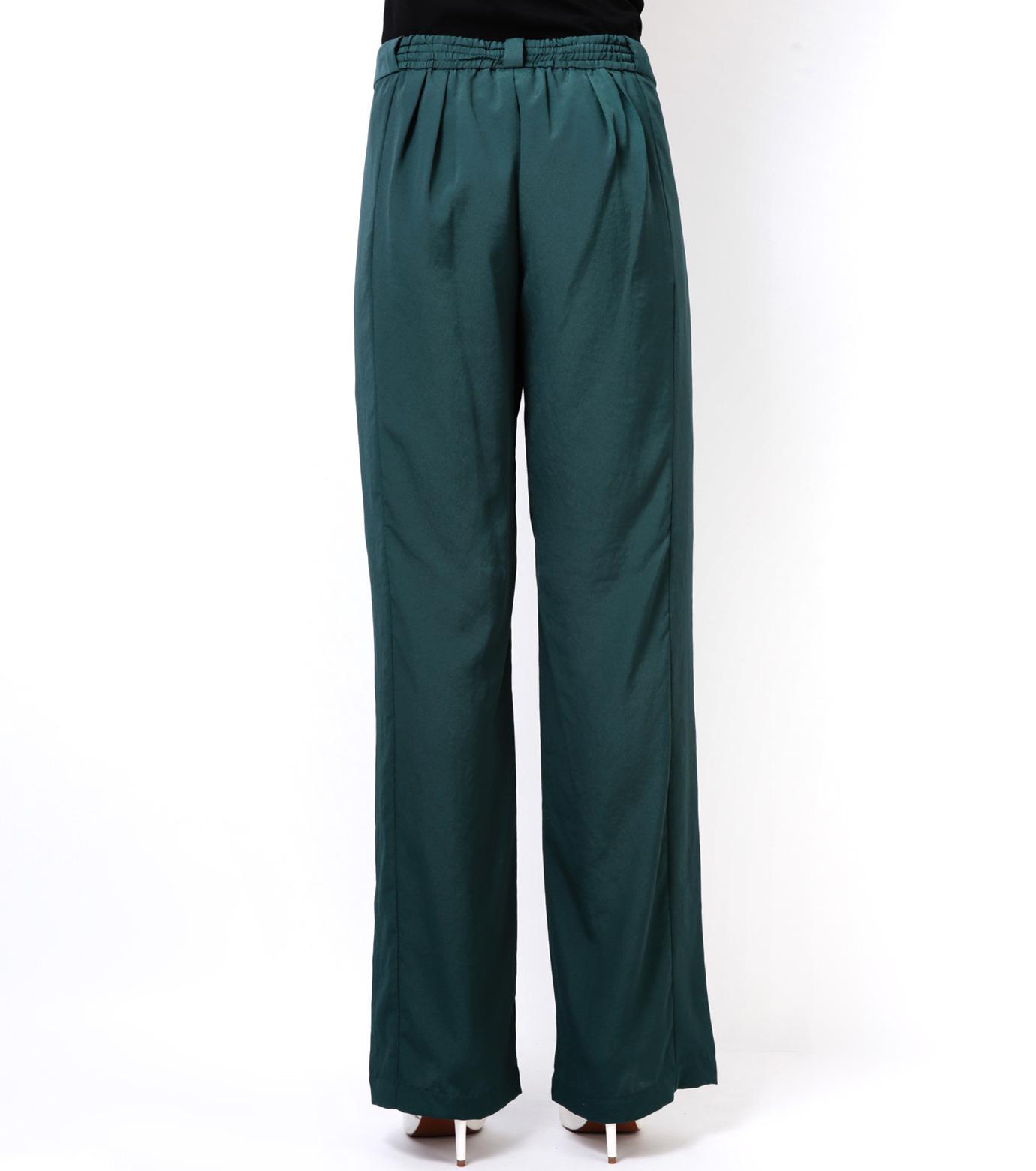 LE CIEL BLEU(ルシェルブルー)のWide Straight Pants-GREEN(パンツ/pants)-14A68006 拡大詳細画像4