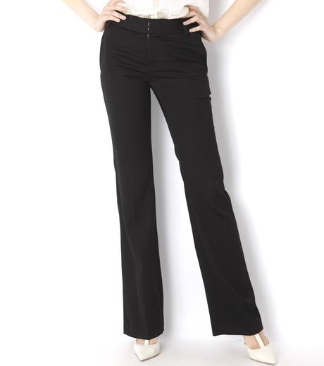 LE CIEL BLEU(ルシェルブルー)のDoeskin Bootscut Pants-BLACK(パンツ/pants)-14A68027 詳細画像2