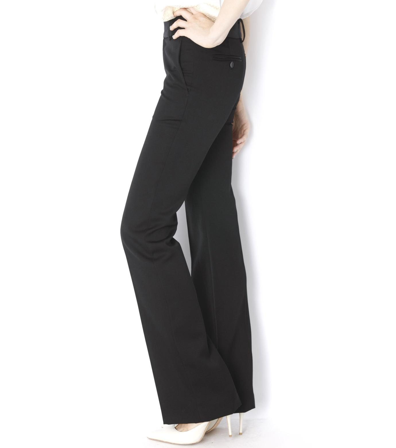 LE CIEL BLEU(ルシェルブルー)のDoeskin Bootscut Pants-BLACK(パンツ/pants)-14A68027 拡大詳細画像3