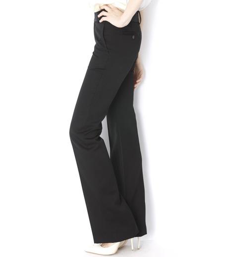LE CIEL BLEU(ルシェルブルー)のDoeskin Bootscut Pants-BLACK(パンツ/pants)-14A68027 詳細画像3