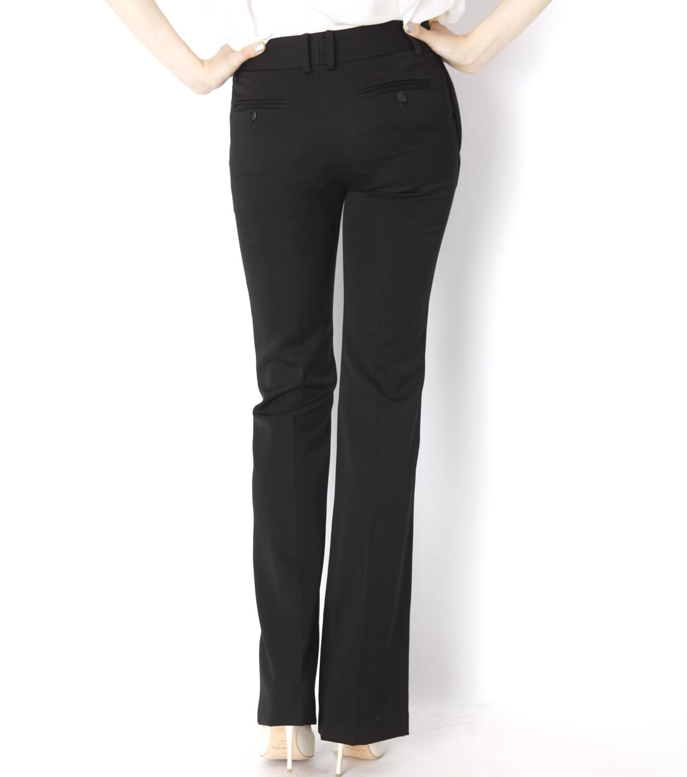 LE CIEL BLEU(ルシェルブルー)のDoeskin Bootscut Pants-BLACK(パンツ/pants)-14A68027 拡大詳細画像4