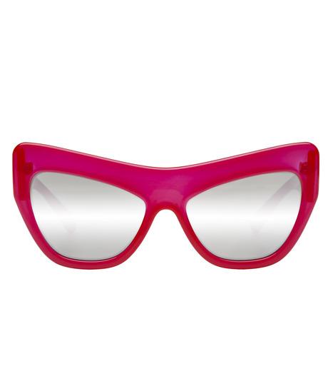 Adam Selman×Le Specs(アダム・セルマン×ル・スペックス)のPlaygirl -Opaque Red / Silver Mirror--RED(アイウェア/eyewear)-1502064-62 詳細画像1