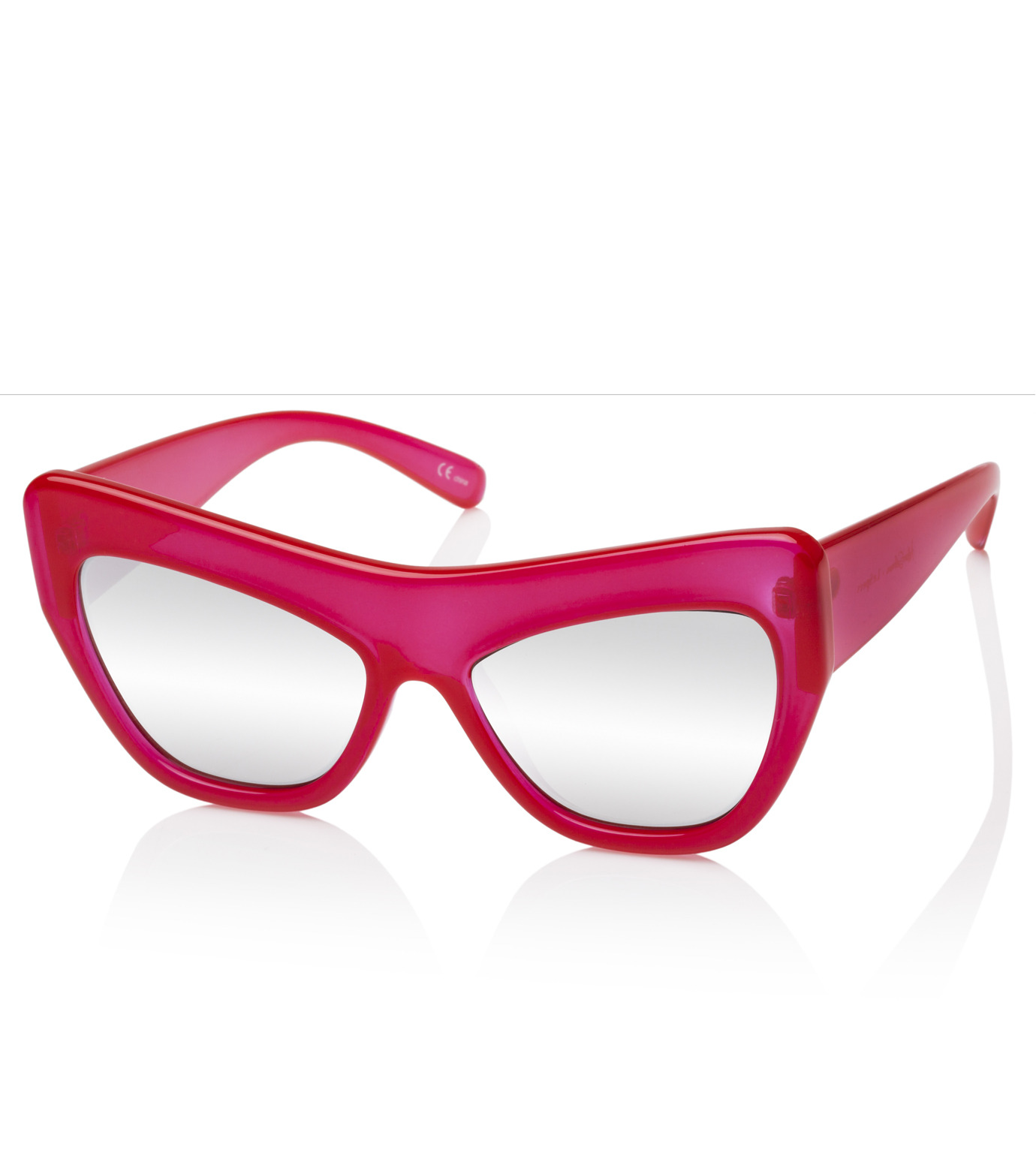 Adam Selman×Le Specs(アダム・セルマン×ル・スペックス)のPlaygirl -Opaque Red / Silver Mirror--RED(アイウェア/eyewear)-1502064-62 拡大詳細画像2