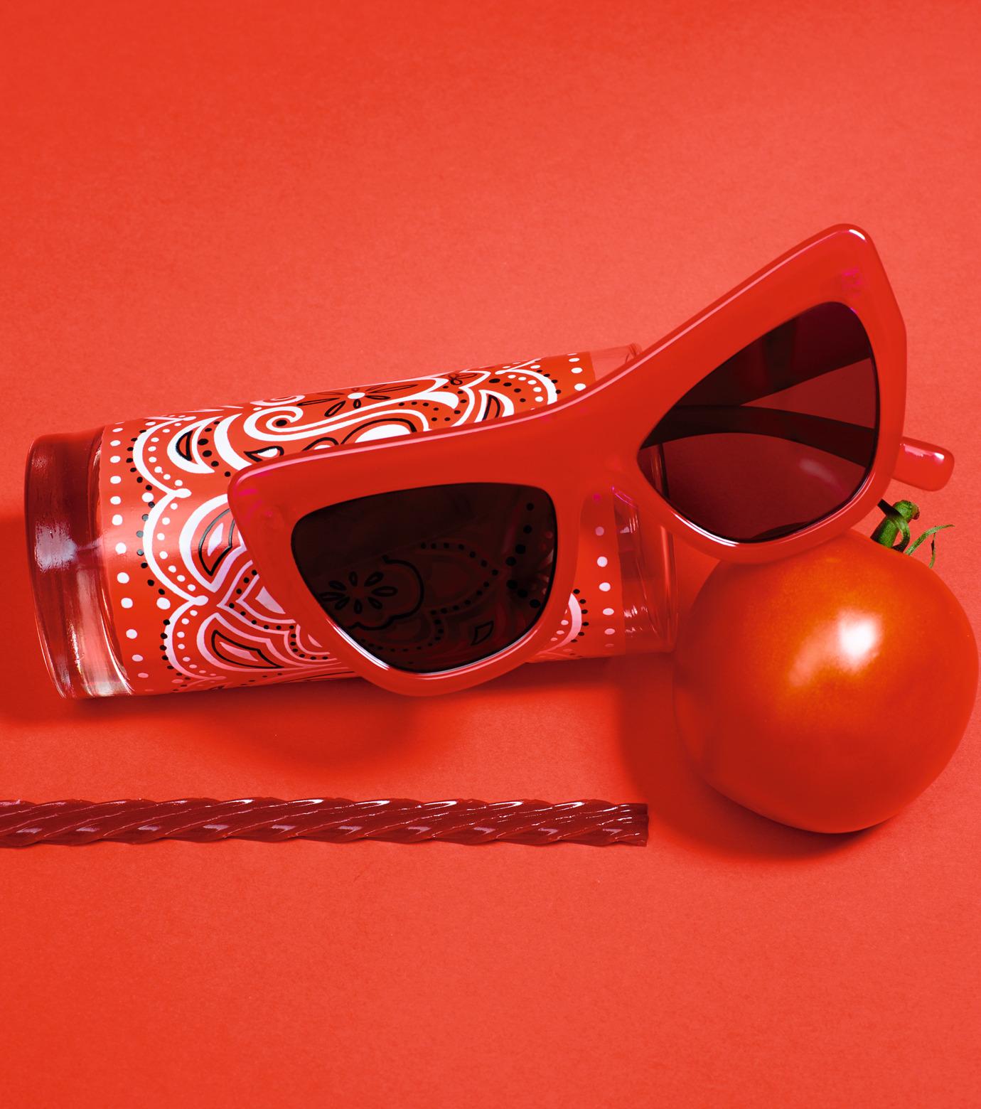 Adam Selman×Le Specs(アダム・セルマン×ル・スペックス)のPlaygirl -Opaque Red / Silver Mirror--RED(アイウェア/eyewear)-1502064-62 拡大詳細画像3