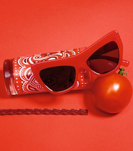 Adam Selman×Le Specs(アダム・セルマン×ル・スペックス)のPlaygirl -Opaque Red / Silver Mirror--RED(アイウェア/eyewear)-1502064-62 詳細画像3