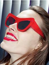 Adam Selman×Le Specs(アダム・セルマン×ル・スペックス) Playgirl -Opaque Red / Silver Mirror-